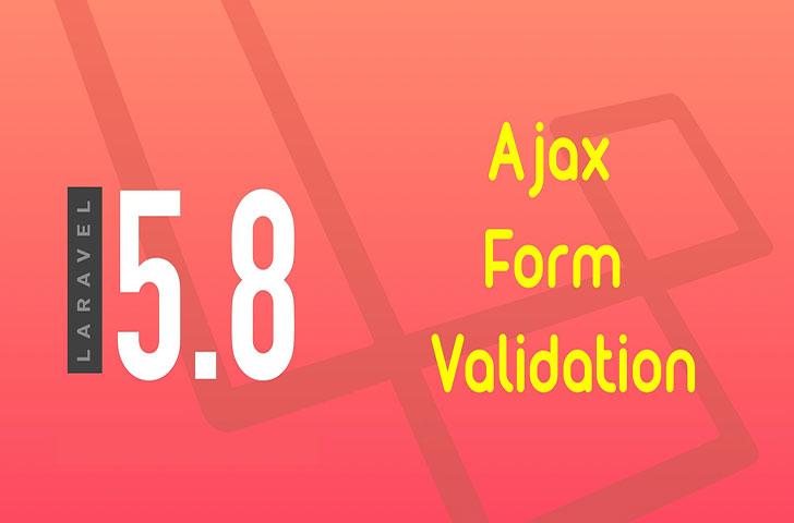 اعتبارسنجی فرم ثبت نام با ajax در لاراول 5.8