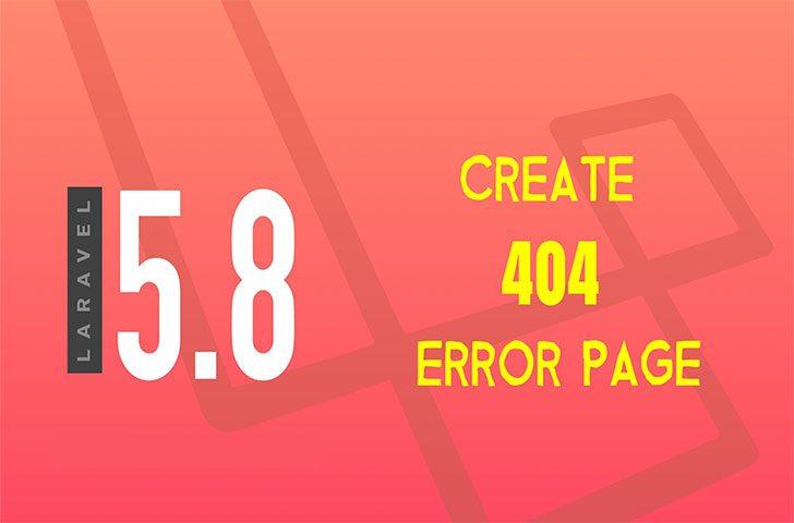 ایجاد صفحه خطای 404 در لاراول