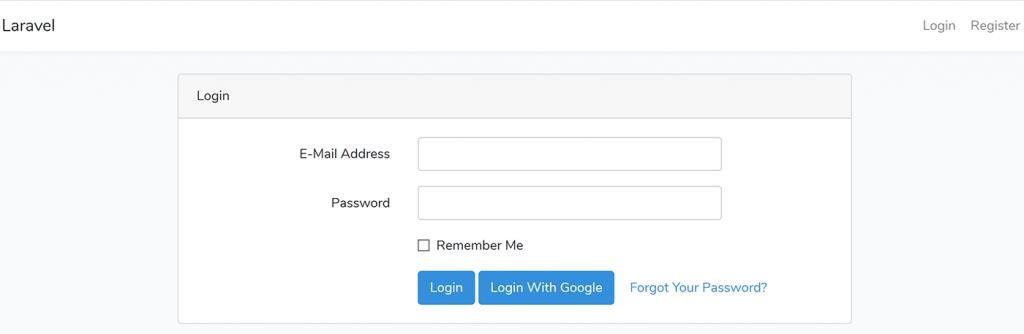 نحوه لاگین کردن در سایت با اکانت گوگل در لاراول