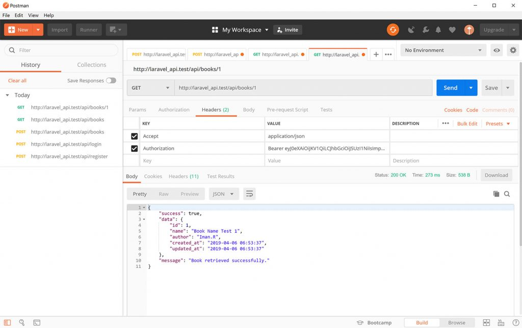 ساخت RESTful API در لاراول